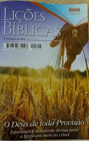 10 Lições Bíblicas Adultos Professor O Deus De Toda Provisão