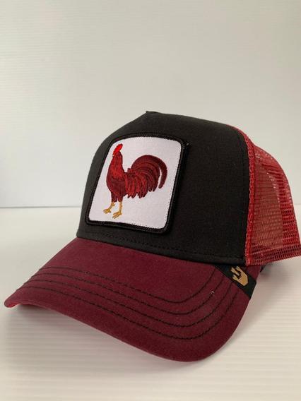 Gorra Goorin Bros. Trucker Animal Farm Gallo Rojo Cock