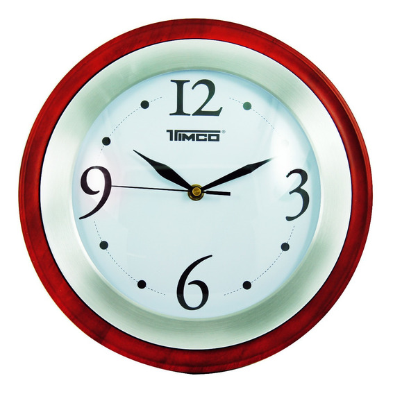 Reloj De Pared Madera Con Acero Inoxidable 30 Cm Ra-70