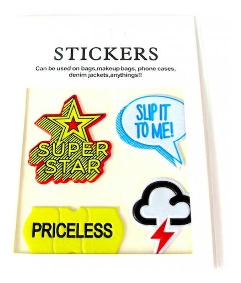 Combo De 3 Sobres Stickers Para Personalizar Tus Accesorios.