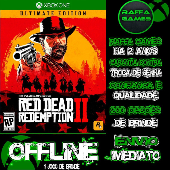 Red Dead Redemption 2 Ultimate Ed. Xbox One Offline + Brinde