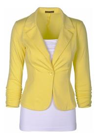 Kit 3 Blazer Feminino, Fashion, Alta Costura, 1 Botão Moda