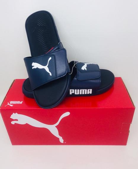 Chinelo Puma Imp. Eua Azul Marinho Original