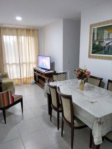 Apartamento Com 3 Dormitórios À Venda, 66 M² Por R$ 315.000,00 - Maria Paula - São Gonçalo/rj - Ap0141
