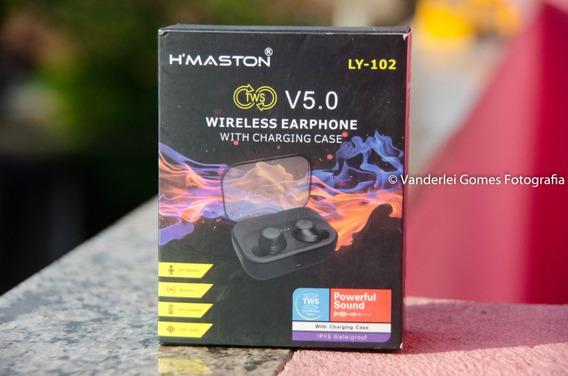 Fones De Ouvido Sem Fio Bluetooth H Maston Ly 102 5.0 Tws-5