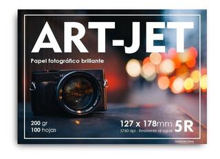 Papel Fotografico Brillante 200gr 5r 13x18 100 Hojas Glossy