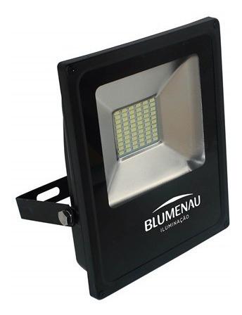 Kit C/ 2 Refletores Led 30w Slim Blumenau 6000k Bivolt Ip65