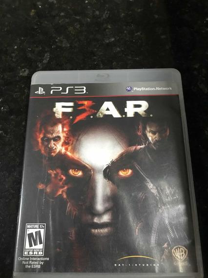 Jogo Ps3 F.e.a.r 3 Fear 3 Original Mídia Física