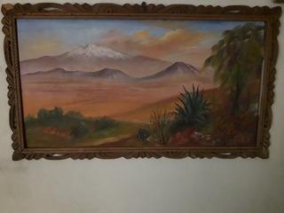 Antigua Pintura Sobre Madera. Firmada Marco De Cedro