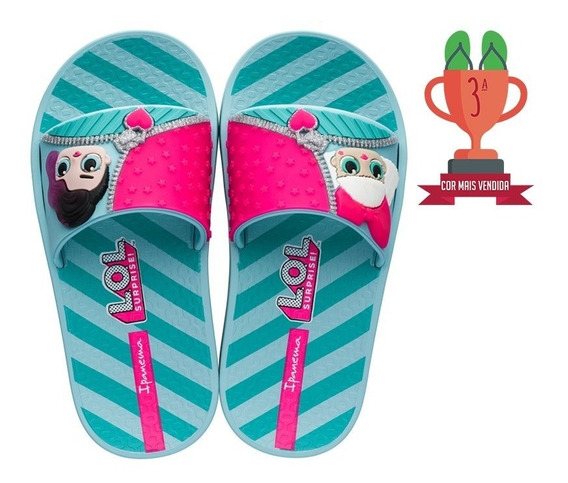 Chinelo Lol Surprise Slide Infantil Ipanema Calçado Menina