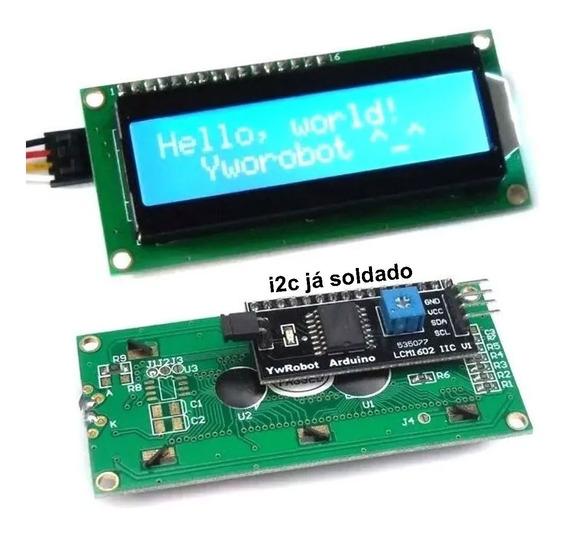Display Lcd 16x2 + Módulo I2c Serial Soldado Para Arduino Nf