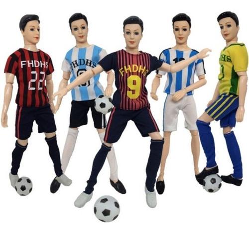 Imagen 1 de 3 de Un Equipo De Fútbol Para Muñeco Ken El Amigo De Barbie