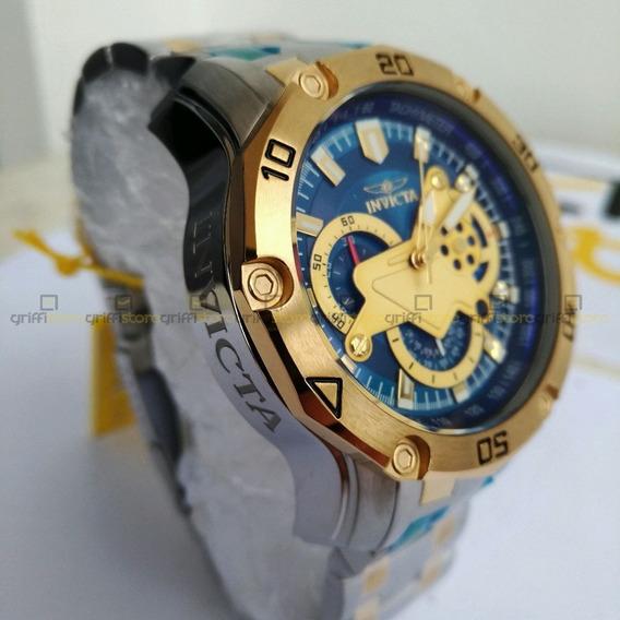 Relogio Invicta Pro Diver 22762 Original Prata C/ Dourado