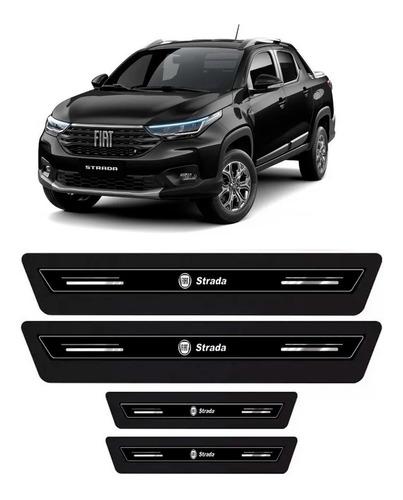 Imagem 1 de 2 de Jogo Soleira Porta Protetora Platinum Fiat Strada 2020 2021