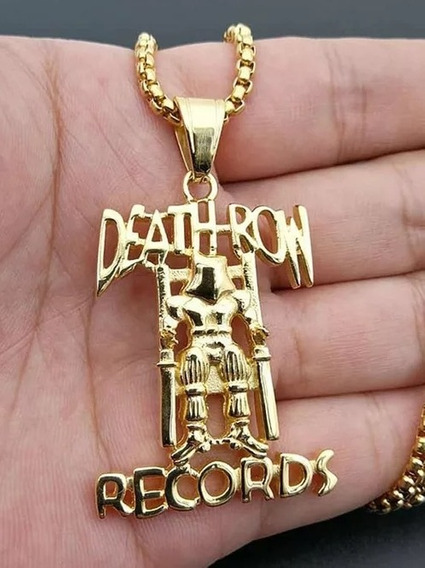 Colar 2pac Tupac Records Cor Ouro Death Row Hip-hop
