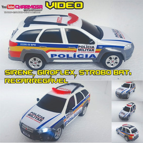 Viatura Policia Minas Gerais Palio Weekend Controle Completa