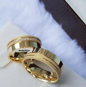 Par De Alianças Ouro 18k 8 Gramas 6mm Casamento Noivado