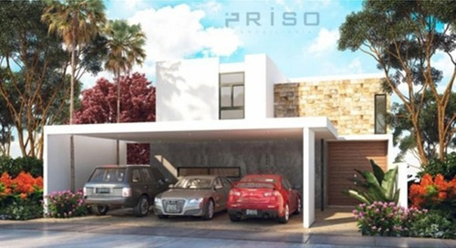 Casa Residencial En Privada En Temozon Norte Modelo C