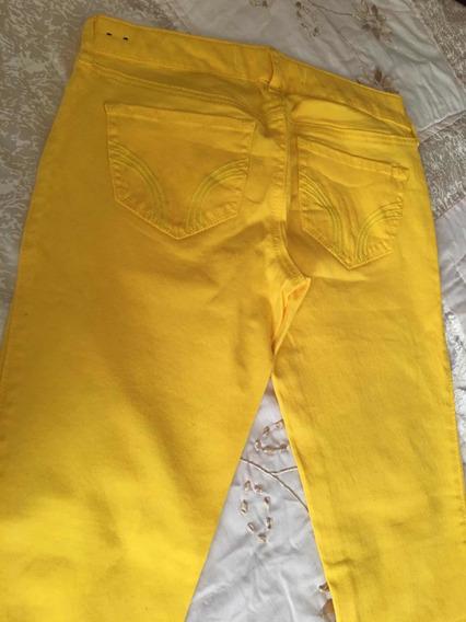 Hollister Pantalón Para Dama Talla W25 Amarillo