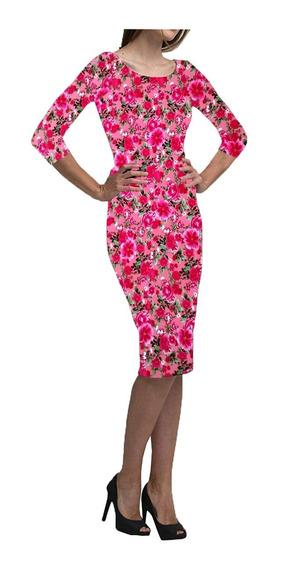 Vestido Midi Moda Evangélica Em Suplex