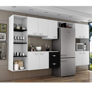 Cozinha Completa 5 Portas E 2 Gavetas + Paneleiro + Nicho