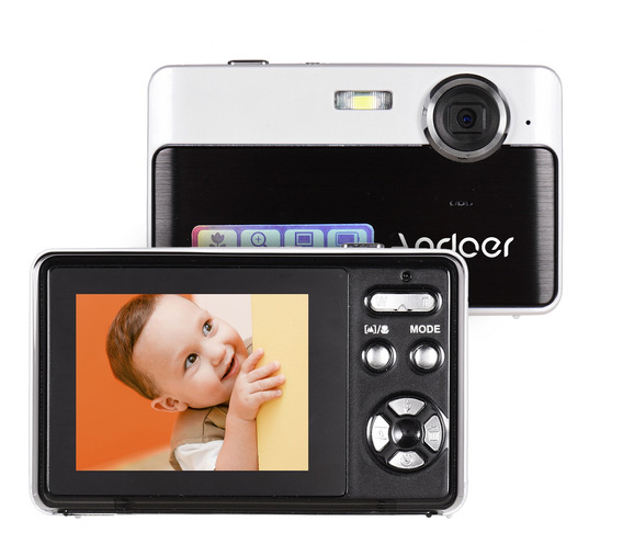Andoer Portátil Mini Câmera Digital 24 Megapixels Alta