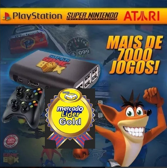 Super Game Box Raspberry + 2 Controles Xbox - 12.700 Jogos