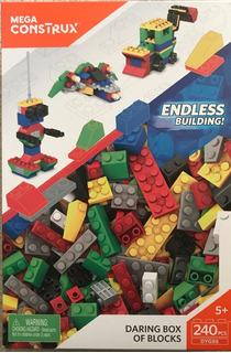 Mega Construx Vibrante Caja De Bloques Tipo Lego 240 Piezas