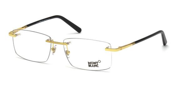 Óculos De Grau Mont Blanc 579 028 Metal Masculino