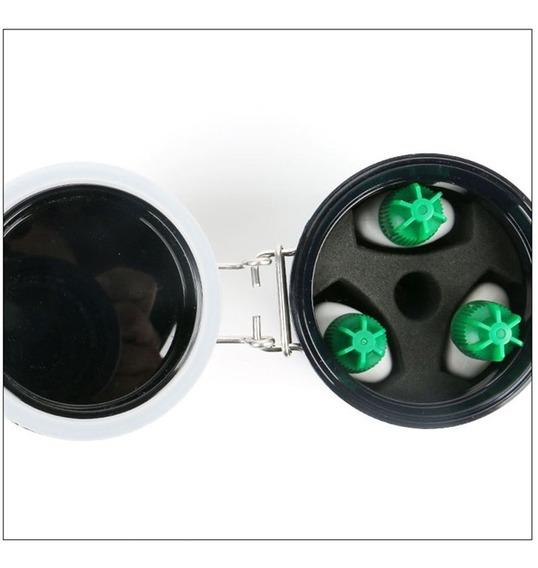 Pote Hermético Com Carvão Ativo Para Cola De Cilios 3x
