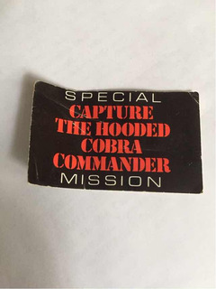 Gi Joe Folleto Cobra Commander 1987