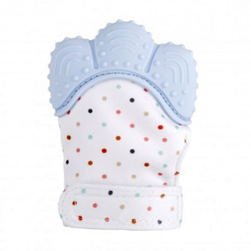 Luva Mordedor Luvinha Silicone Para Bebê Azul Pronta Entrega
