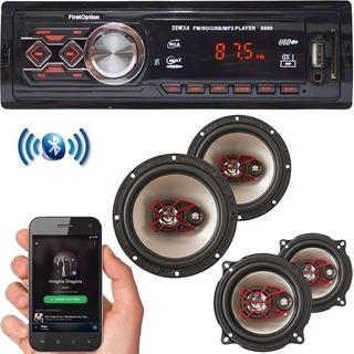 Radio Bluetooth Automotivo + 4 Falantes Dianteiro Traseiro