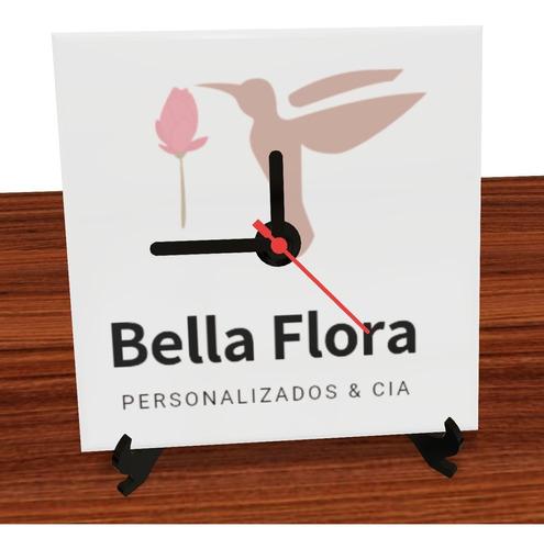 Imagem 1 de 2 de Relógio Decorativo Medindo 15x15 Cm Personalizados