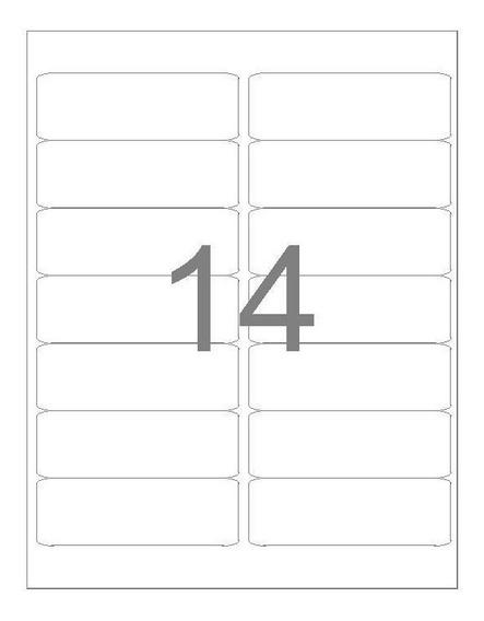 Etiqueta A4363 38,1x99mm 100 Folhas 14 Etiquetas - Maxprint
