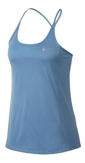 Musculosa Nike Dry Miler Celeste Mujer