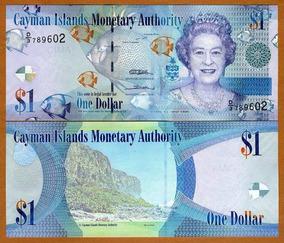 Cayman 1 Dollar 2010 P. 38c Fe Cédula S. D3 Rainha Tchequito