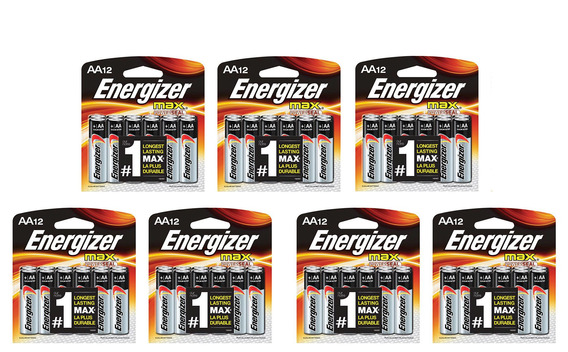7 Cartelas De Pilha Alcalina Aa 1,5v Max Energizer