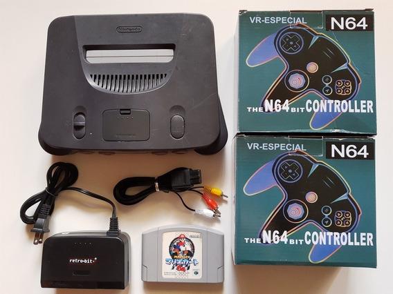 N-64 + Mario 64 + Mario Kart + 2 Controles + Cabos!!