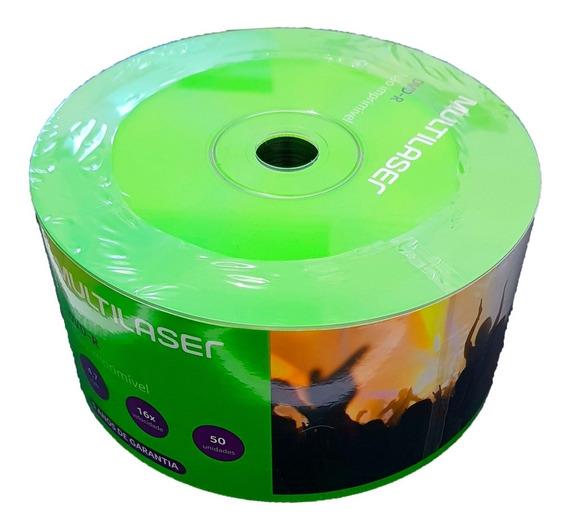 100 Dvd-r Multilaser 4,7 Gb 16 X Logo