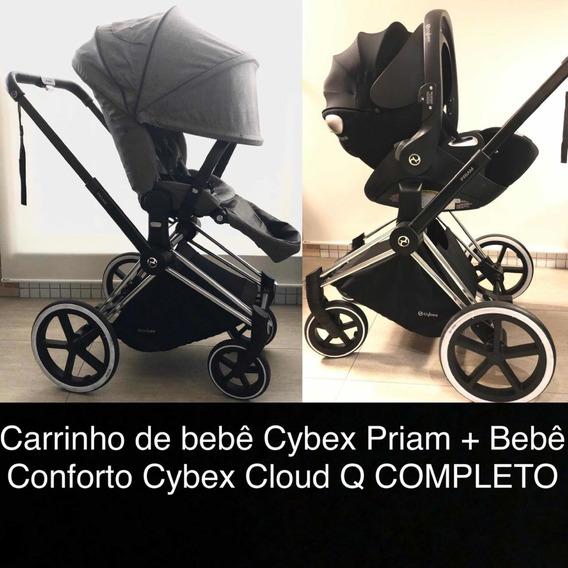 Carrinho De Bebê Cybex Priam + Bebê Conforto Cybex Cloud Q