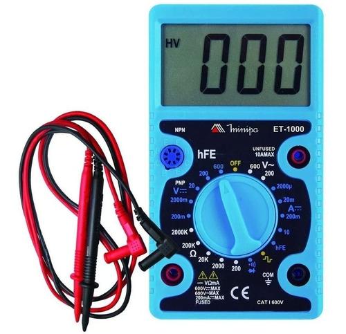 Multímetro Digital Profissional Et-1000 Minipa