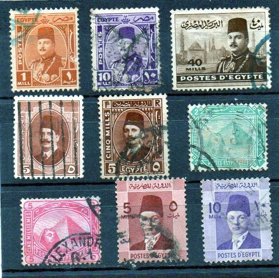Egipto 1926, Buen Lote De 9 Sellos Usados , Exelente Mira!!!