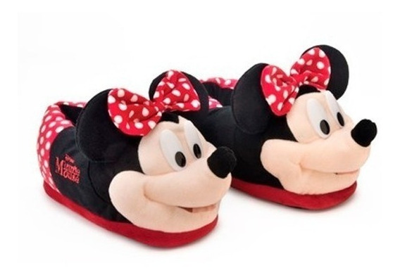 Pantufa Minnie Mouse 3d Original Ricsen Solado De Borracha