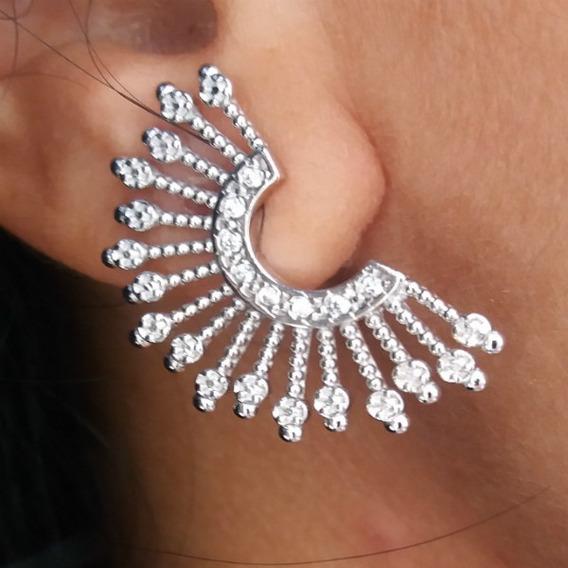 Brinco Ear Cuff Da Sophia Da Novela Folheado Em Prata