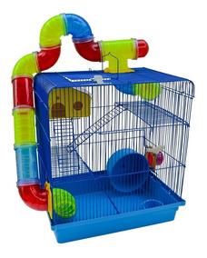 Gaiola Hamster Com Labirinto 3 Andares Super Luxo Lançamento