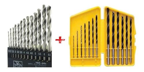 Imagem 1 de 7 de Jogo De Broca Para Metal E Madeira Com 26 Peças  1.5 A 6.5mm