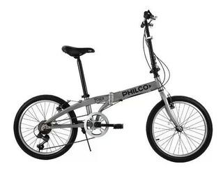 Bicicleta Plegable Aluminio Rodado 20 Philco Yoga En Cuotas