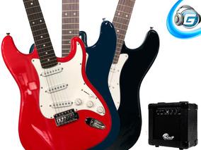 Guitarra Electrica + Amplificador + Afinador + Cuerdas Y Más
