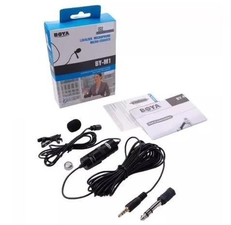 Microfone De Lapela Boya By-m1 Câmeras E Smartphones